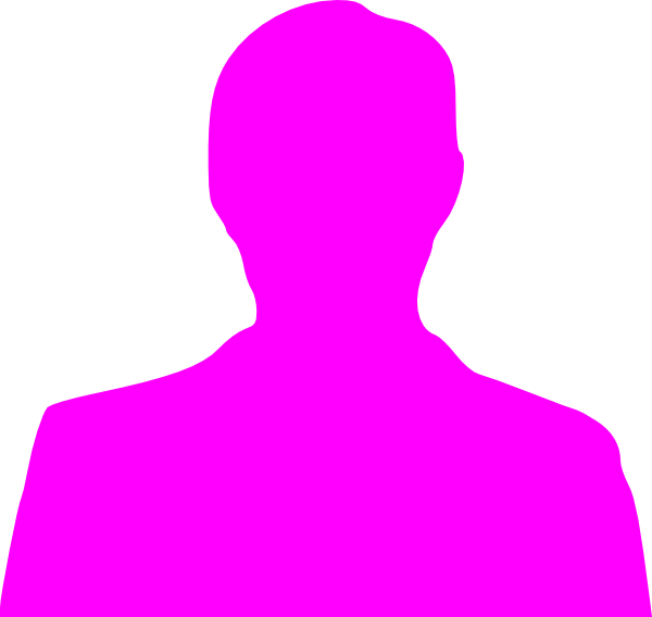 600x568 Pink Silhouette Clip Art