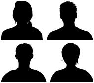 190x168 Roger Federer Silhouette Head, Free Vector