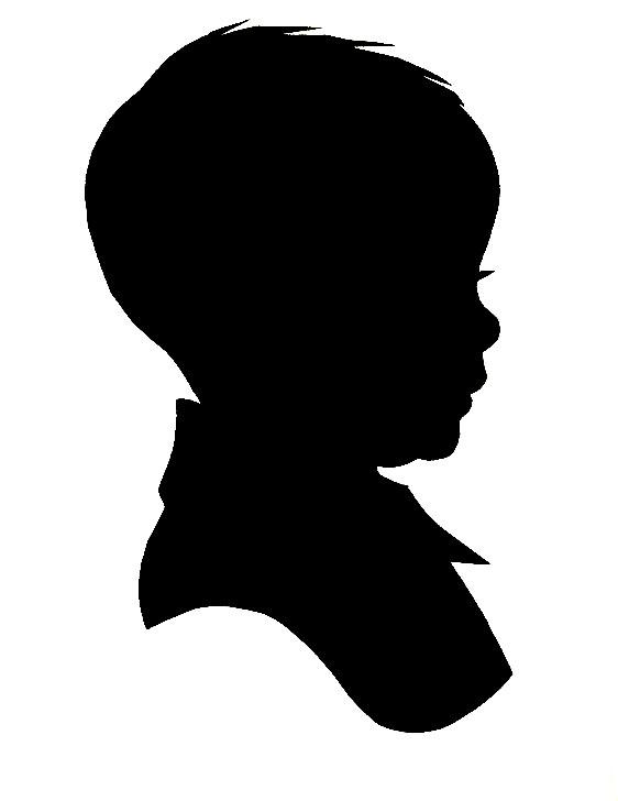 562x728 Child Head Silhouette Clip Art