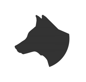 300x287 Dog Head Profile Silhouette Clip Art Download
