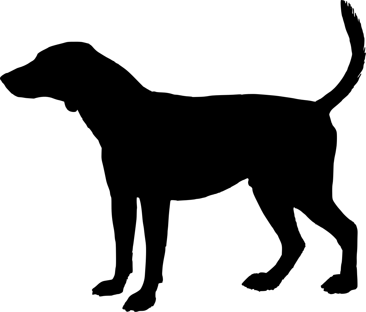 1195x1020 Free Dog Head Silhouette, Hanslodge Clip Art collection