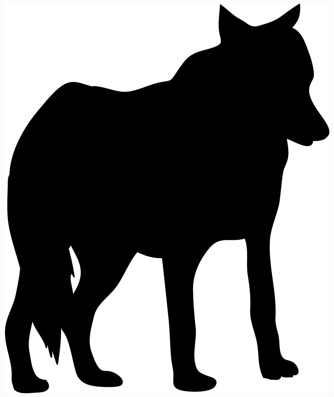 1134x1349 Wolf Head Profile Silhouette Images Pictures