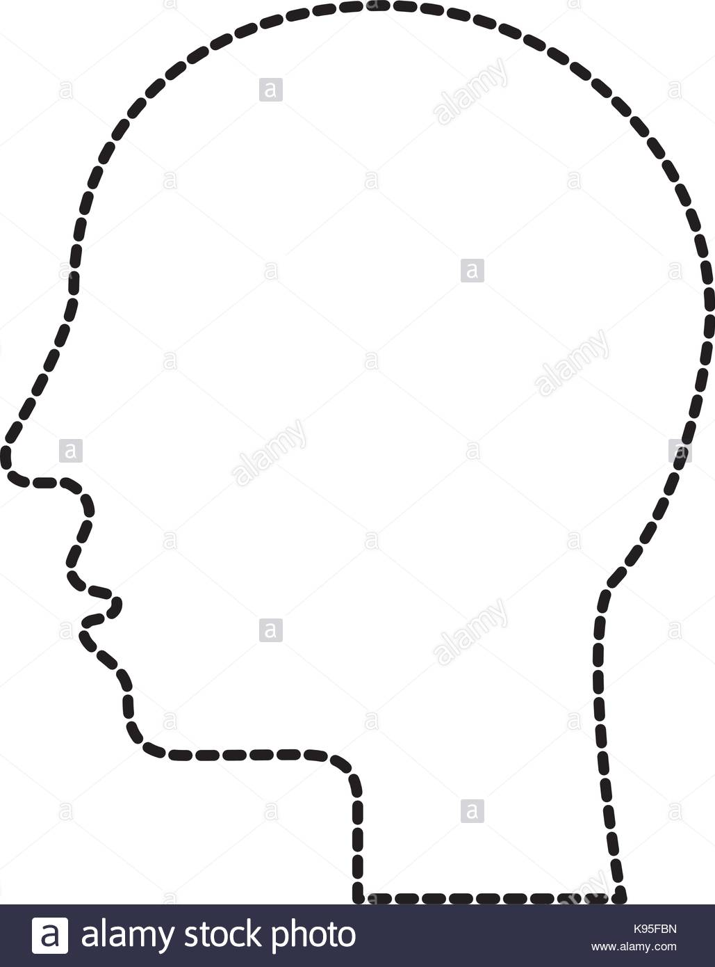 1029x1390 Silhouette Human Head Profile Man Image Stock Vector Art