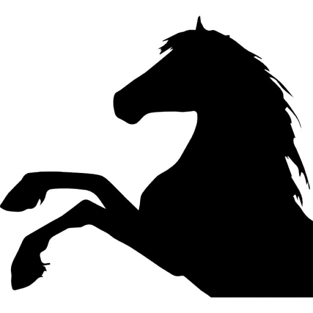 626x626 Horse Raising Feet Side View Silhouette Head Part Icons Free