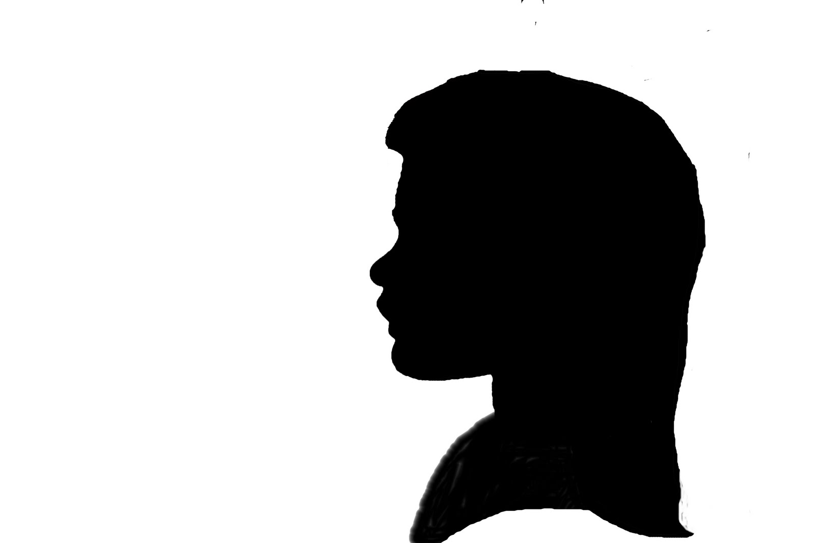 1600x1067 Side Face Silhouettes Clipart
