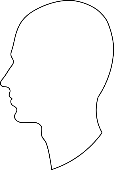 402x596 26 Images Of Blank Head Template Side View