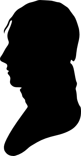 312x597 Silhouette Of Man Facing Left Clip Art
