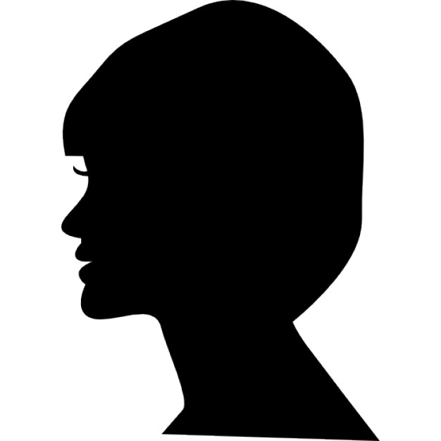 626x626 Woman Head Side View Silhouette Icons Free Download