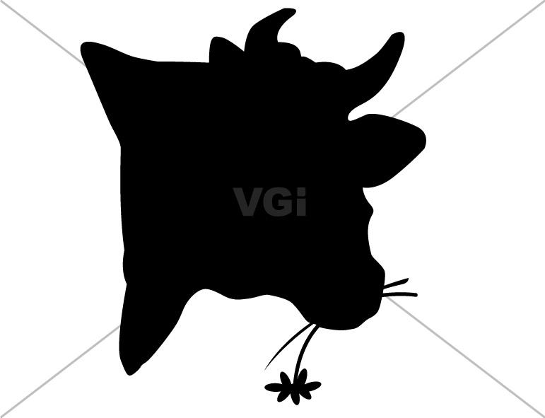 771x591 Cow Face Silhouette Clip Art