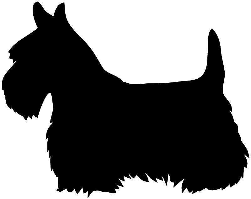 800x635 Dog Head Silhouette White