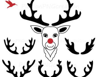 340x270 Head Silhouette Rudolph Clip Art Merry Christmas Amp Happy New