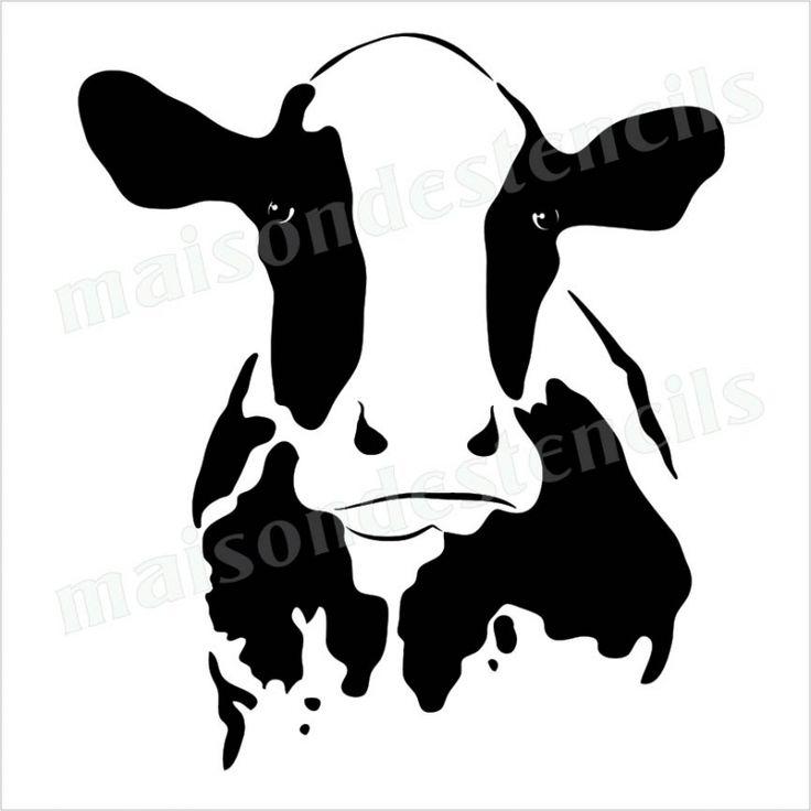 736x736 Holstien Cow Silhouette Clipart