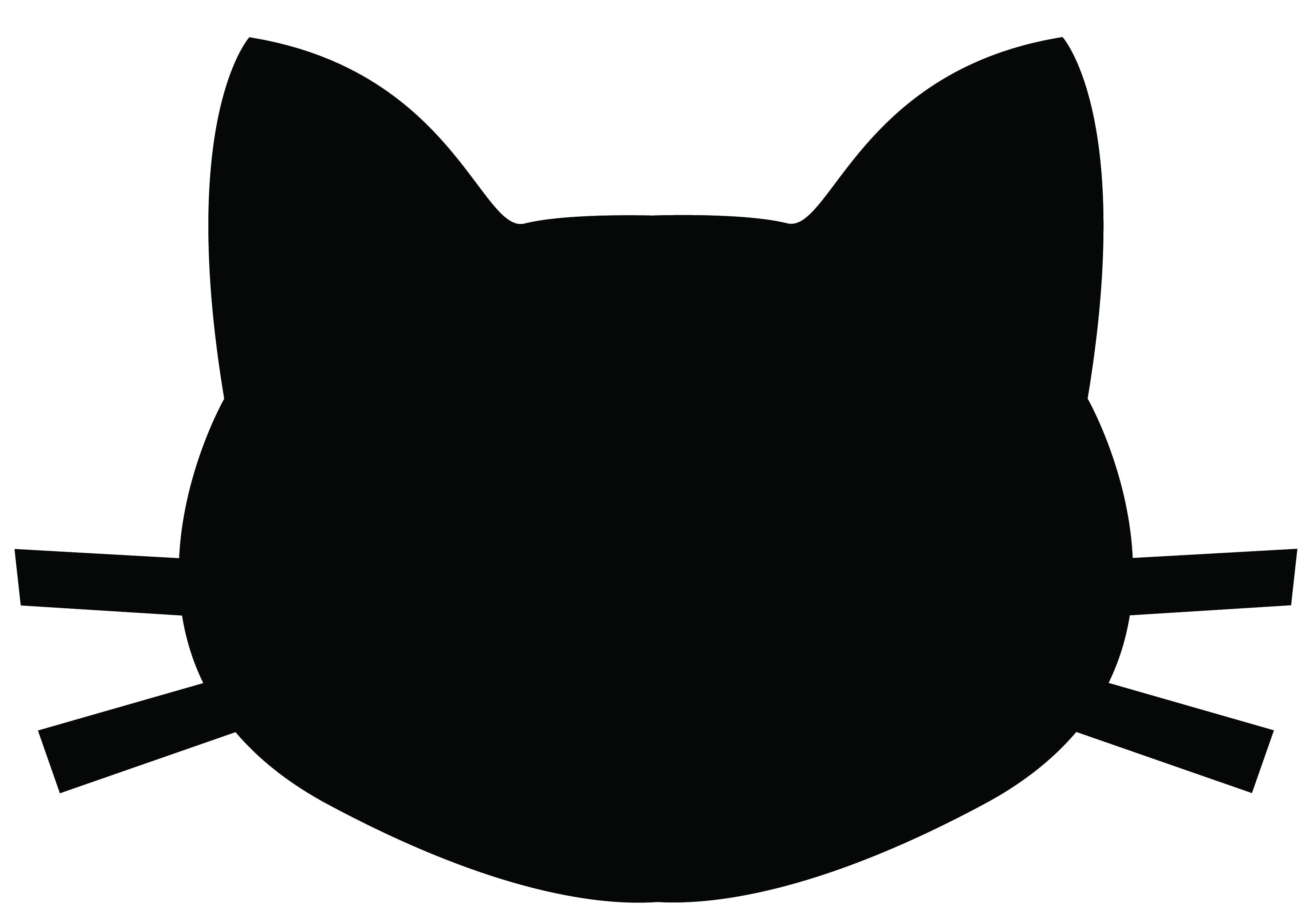 3600x2538 Black Cat Silhouette Clipart
