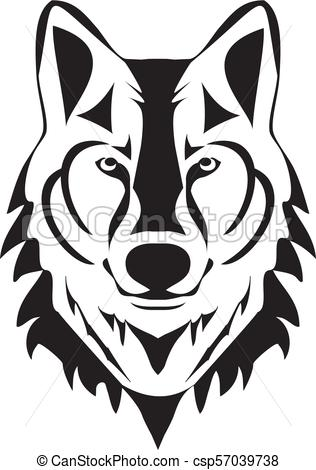 316x470 Vector Wolf Head Silhouette Vectors