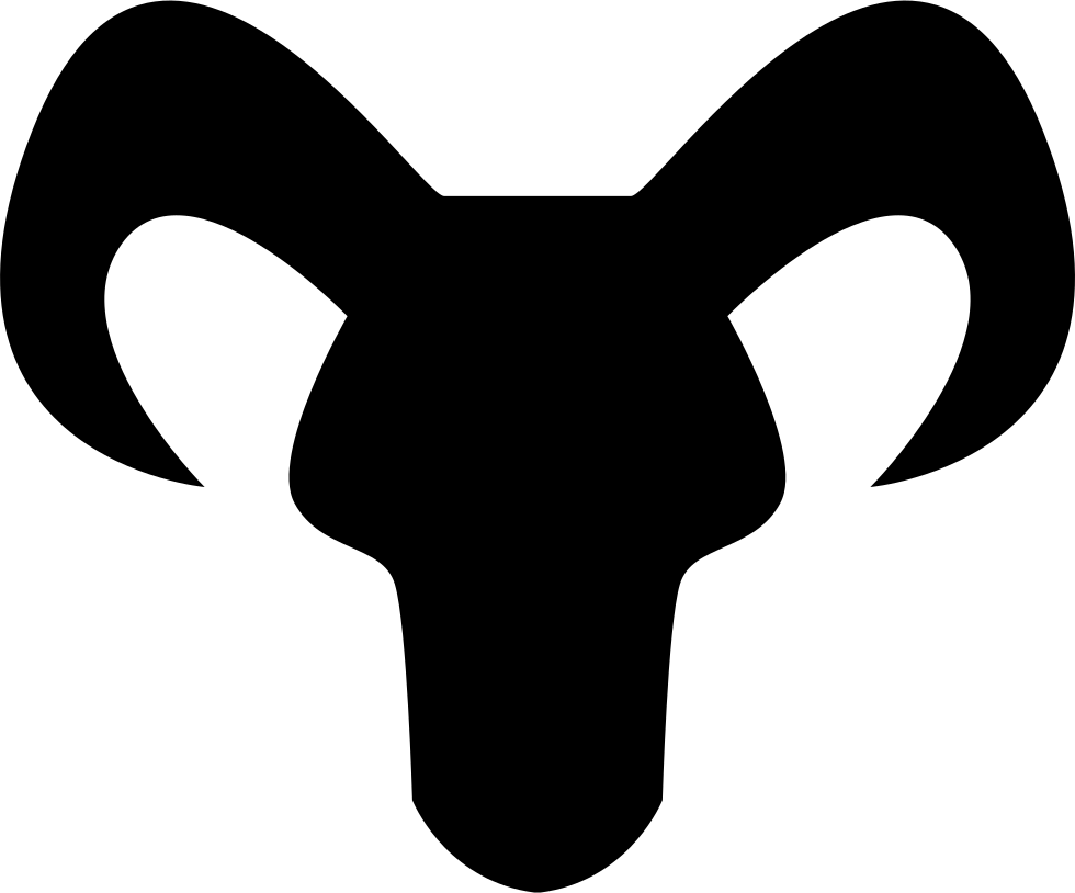 980x814 Capricorn Astrological Sign Of Head Black Silhouette With Horns