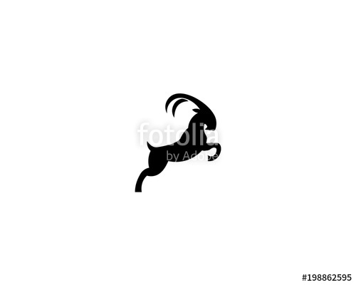 500x400 Goat Head Silhouette Logo Stock Image And Royalty Free Vector