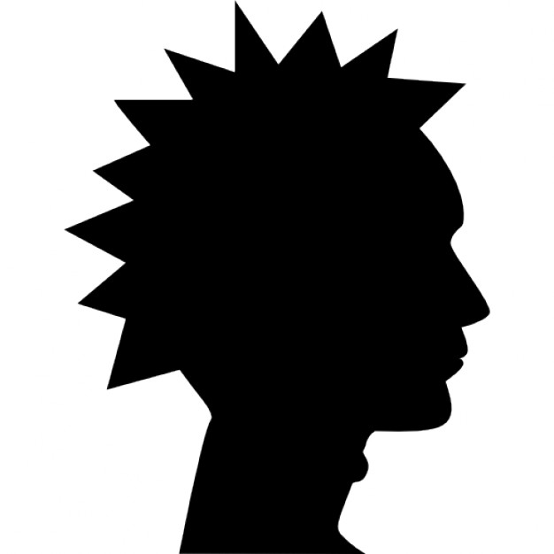626x626 Silhouette Of A Mans Head Logo