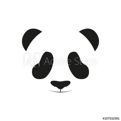 500x500 Baby Panda Face Logo Template. Baby Panda Face Icon. Baby Panda