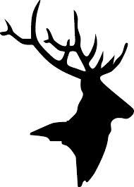 190x265 Brown Deer Head Silhouette Clipart Collection