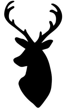 236x364 Stag Head Pattern. Use The Printable Outline For Crafts, Creating