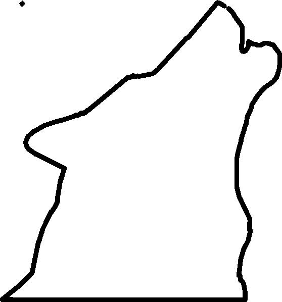558x598 Wolf Outline Clip Art