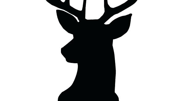 585x329 Printable Deer Head Outline Printable Reindeer Horn Template