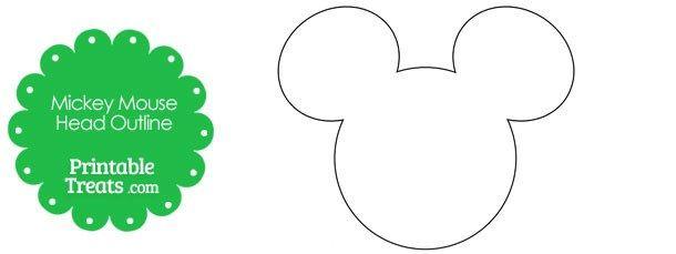 610x229 Printable Mickey Mouse Head Outline Printable Treats Com East