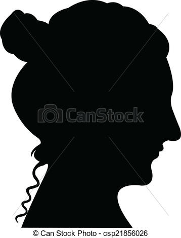 358x470 Lady Head Silhouette Vector Vector Illustration