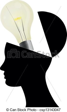 280x470 Open Head Idea. Illustration Of Silhouette Open Head With Eps