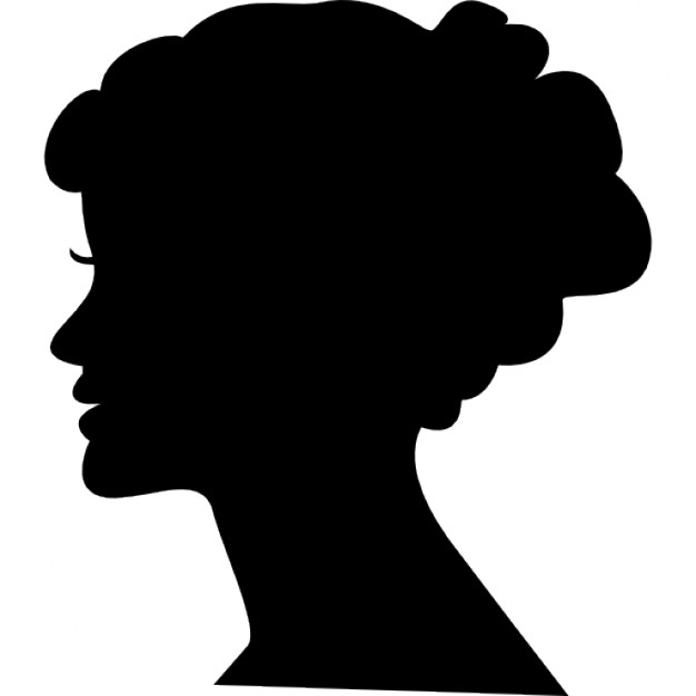 626x626 Female Head Silhouette Icons Free Download