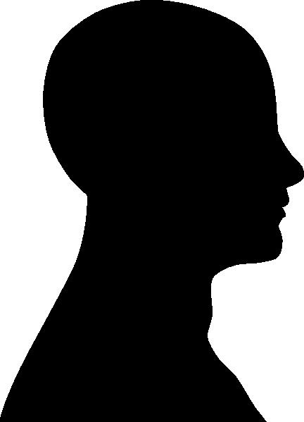 432x599 Head Outline Black Clip Art