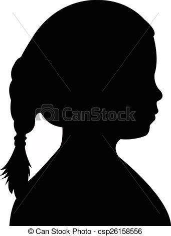 341x470 A Child Head Silhouette Vector Clipart Vector
