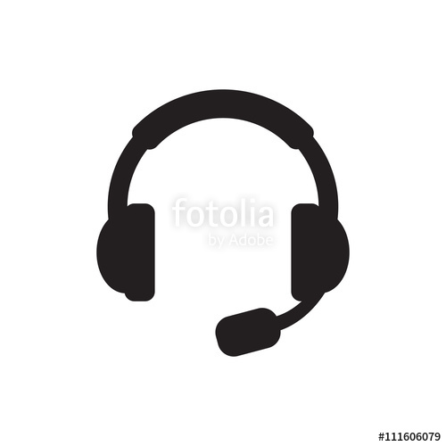 500x500 Headset Icon Vector. Headset Sign Isolated On White Background