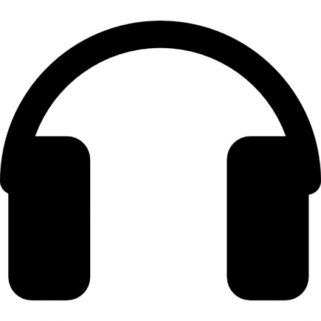 626x626 Rectangular Headphones Silhouette Icons Free Download