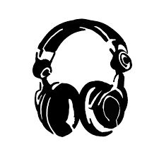 225x225 Headphone Stencil For Diy Clothing Art