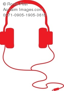 211x300 Clip Art Silhouette Of A Pair Of Headphones Or Headset