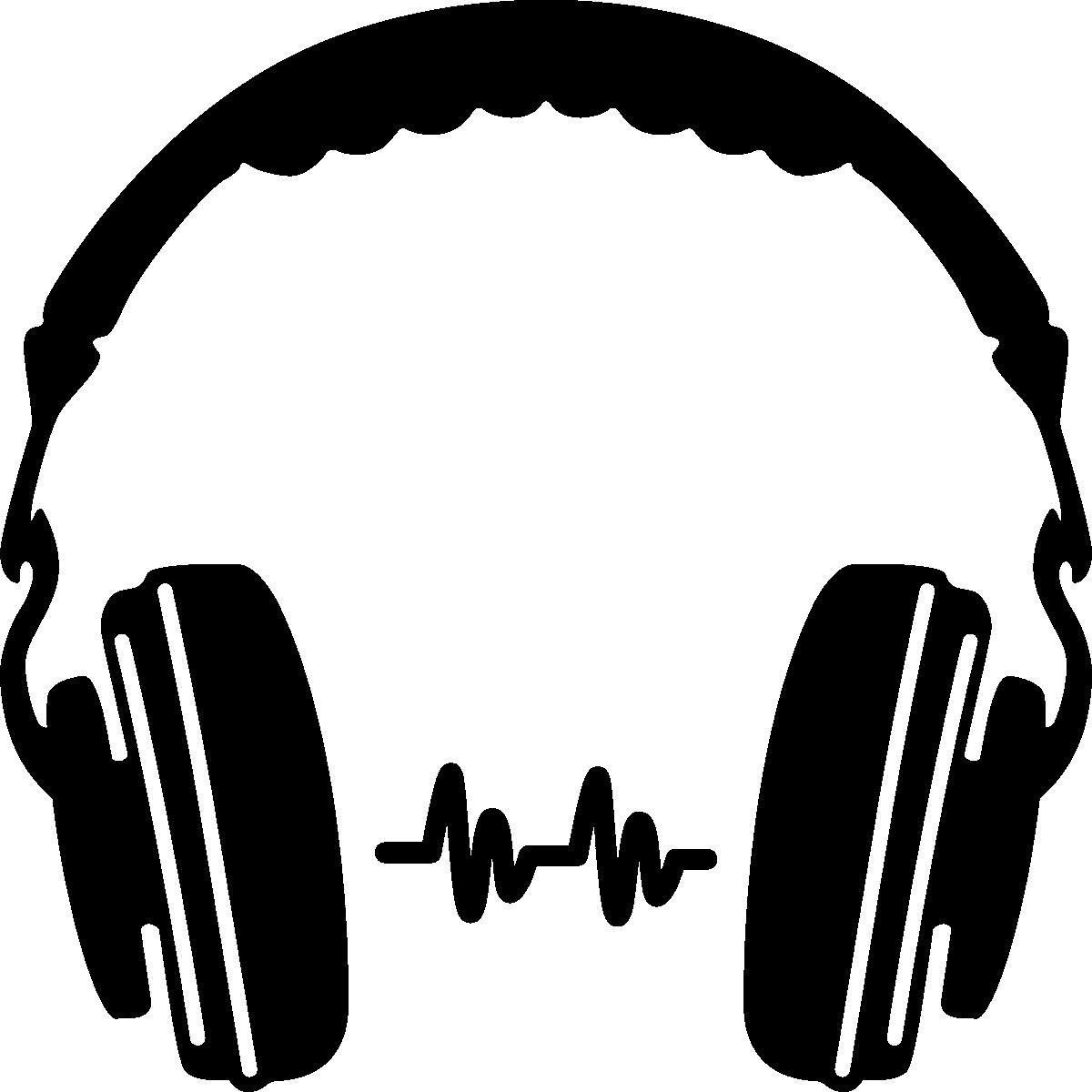 1200x1200 Headphone Silhouette Clip Art Png Png Mart