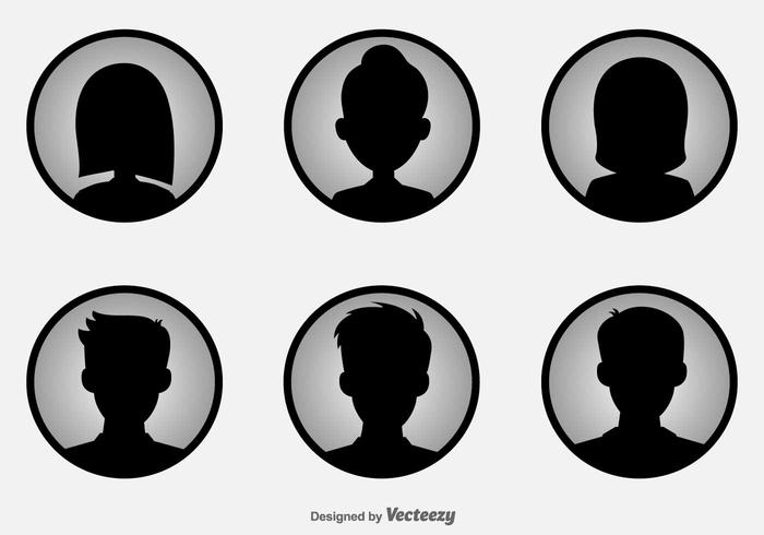 700x490 Headshot Vector Icons