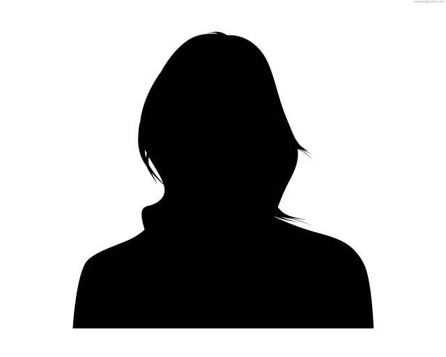 640x512 Female Headshot Silhouette