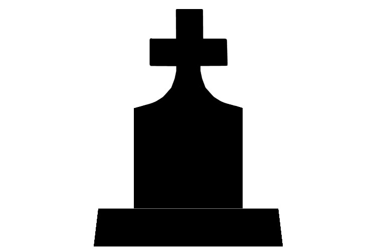 750x500 Tombstone clipart silhouette