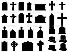 236x177 Tombstones Outlines Headstones And Gravestones In Vector