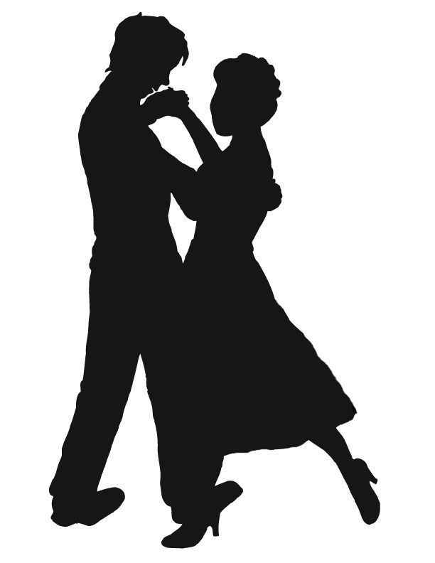 612x792 Dancing silhouette clipart