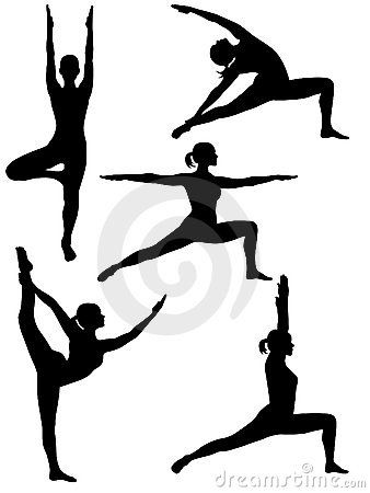 338x450 20 Best Exercise Silhouettes Images On Healthy Living