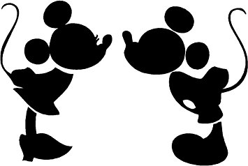 355x238 Mickey And Minnie Kissing Silhouette Cute Nursery