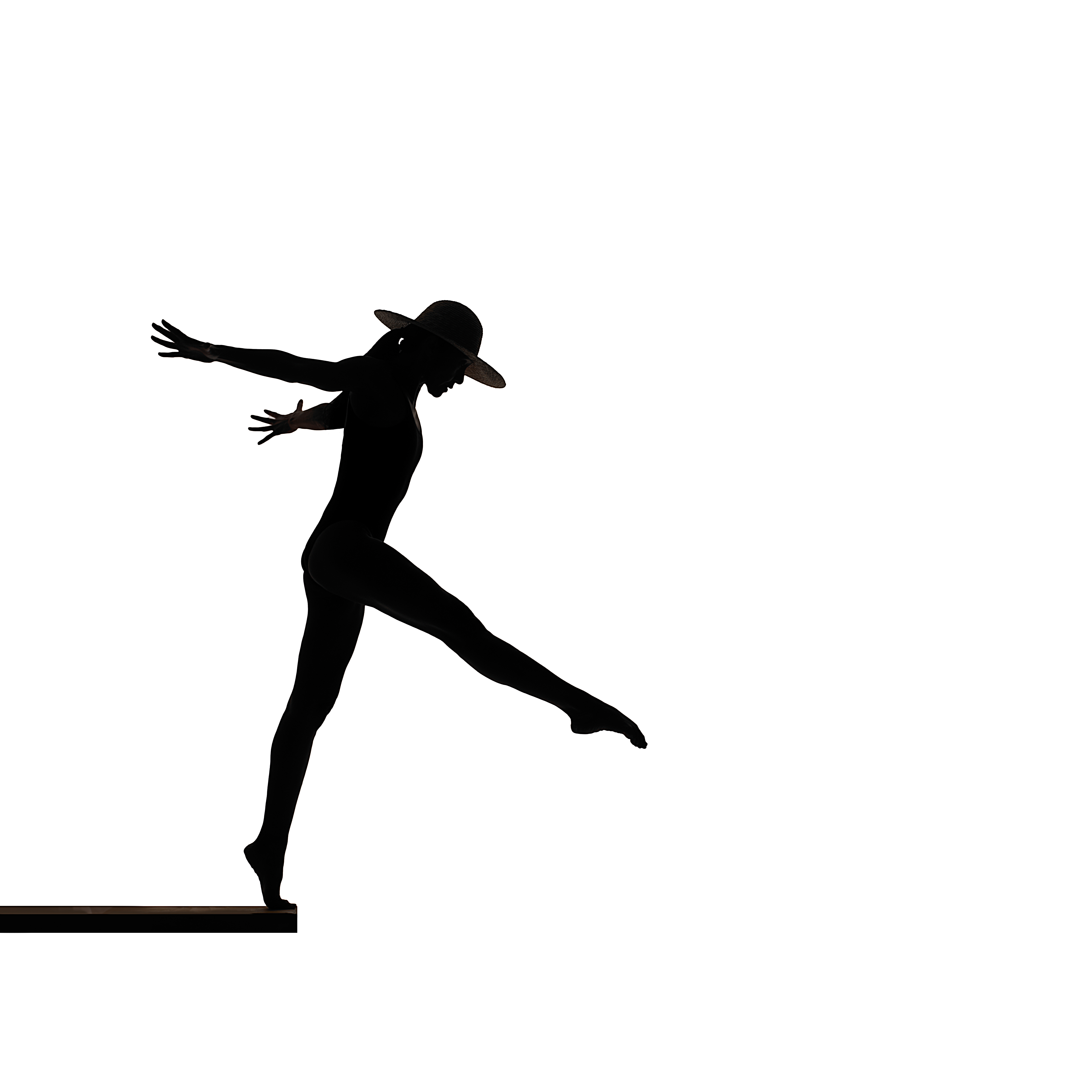 4500x4500 Diving,stock Photography Shot,silhouette Set Up In Studio.woman