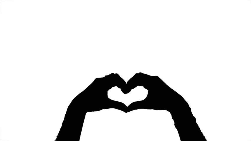 Heart Hands Silhouette At Getdrawings Free For Personal Use