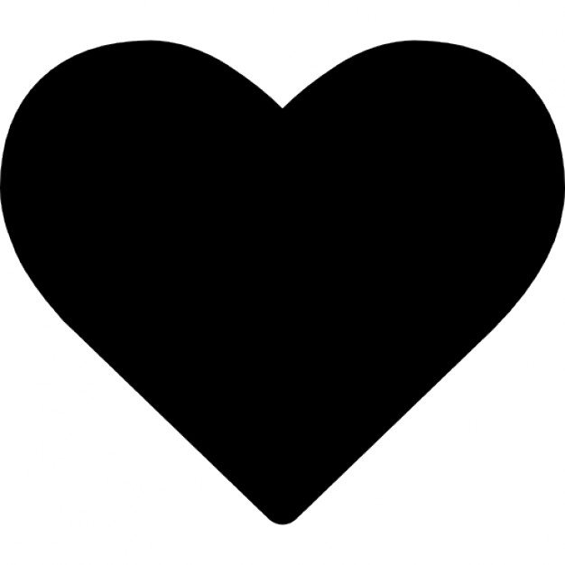626x626 Heart Shape Silhouette Icons Free Download