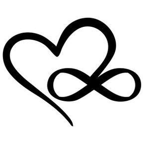 290x290 Silhouette Design Store Infinity Heart Tetovanie