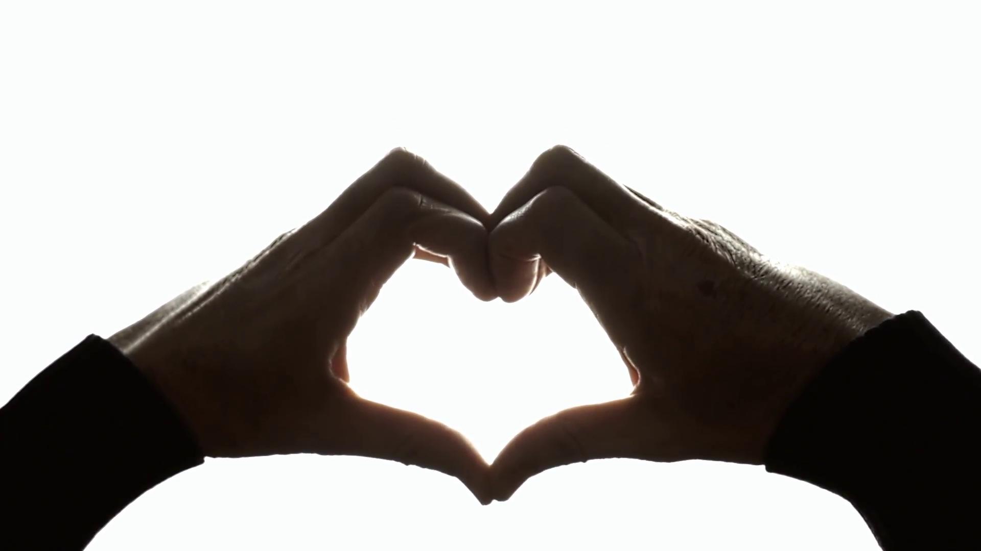 1920x1080 Silhouette Hands Rainbow Flag Heart. Hands Raising Up, Creating