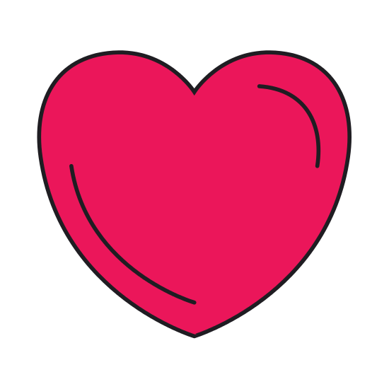 550x550 Colorful Silhouette Front View Heart Shape Symbol Charity Love